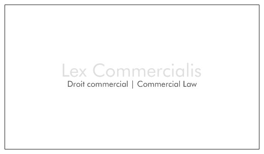 Lex Commercialis Avocats | Attorneys